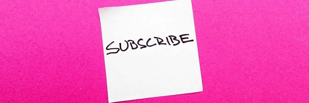 Never make a video without subscription button
